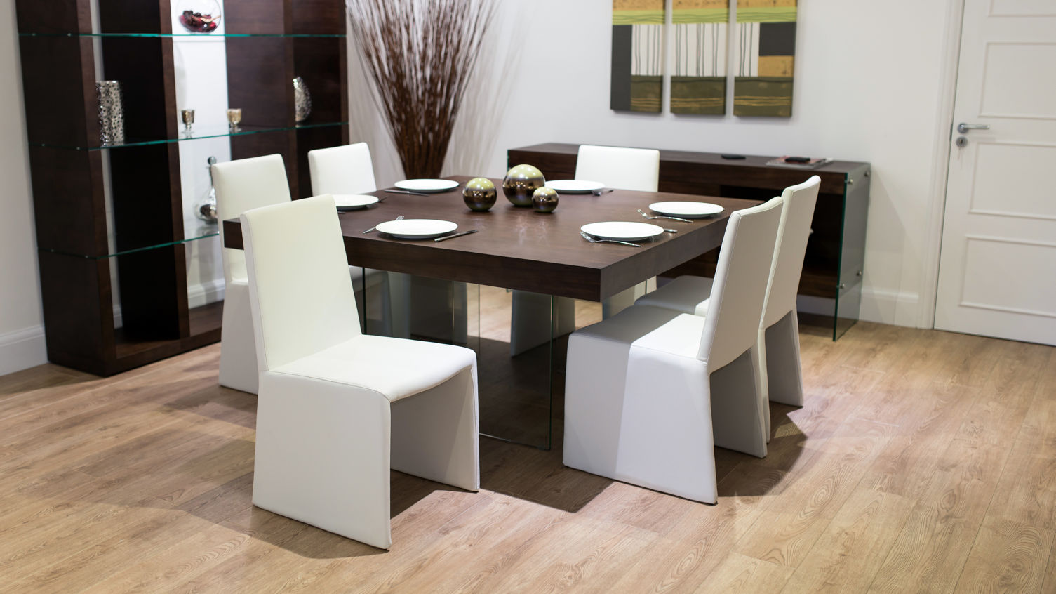 Modern Glass Kitchen Table Square Dining Table For 4 Dining Table 4 Chairs Fancy Dining Room