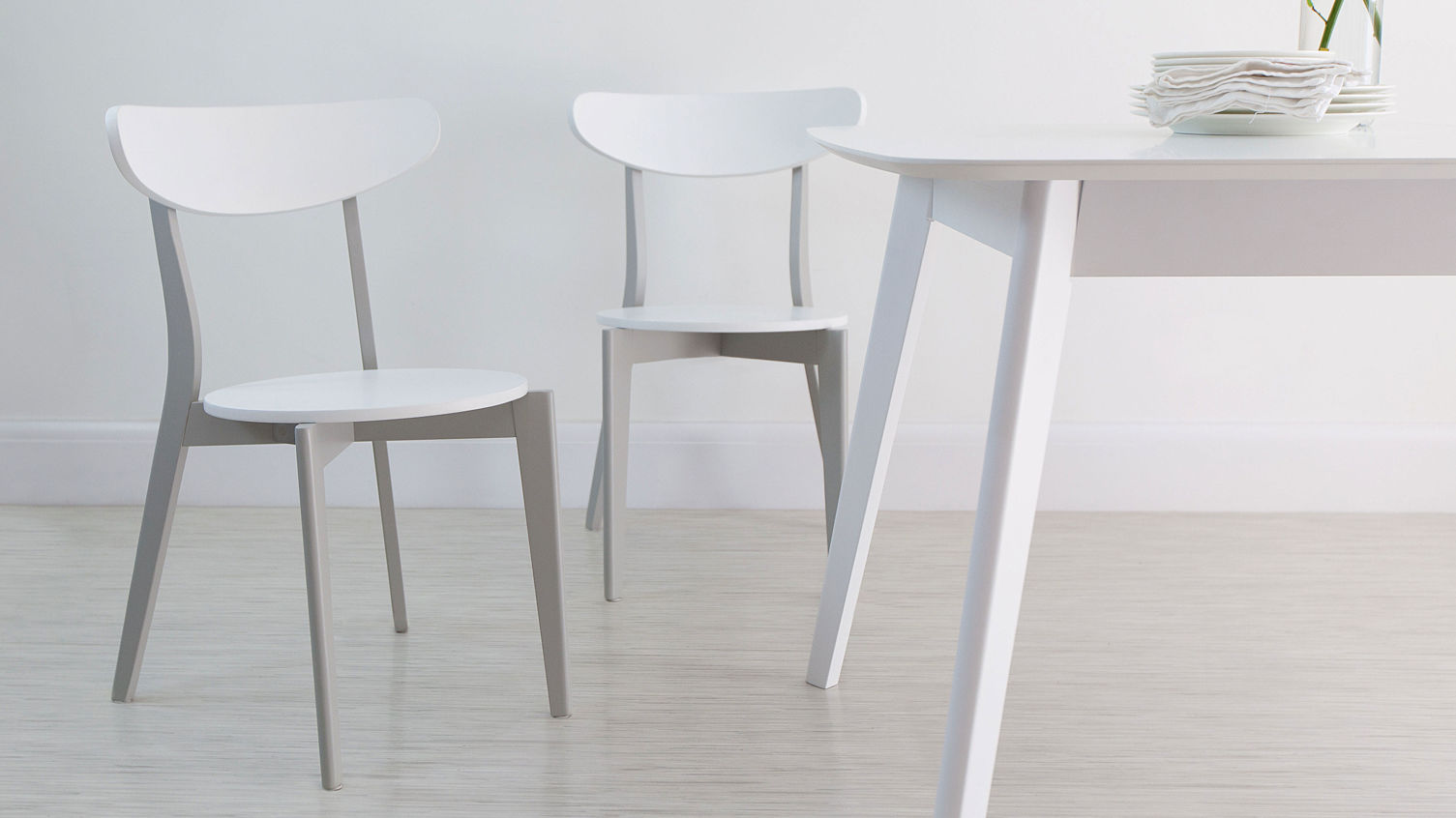 Aver Grey and White Extending Dining Set