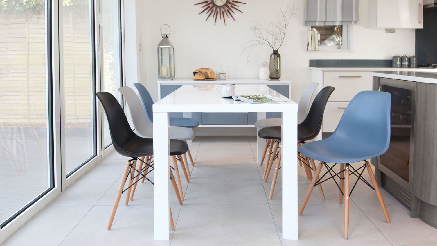 Amazing photo of Plastic Dining Chairs Uk Delivery Miss You 610 Plastic Dining Chair 2  with #4D637E color and 1505x846 pixels