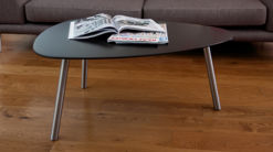 Assi Matt Black Coffee Table