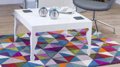 Muse White High Gloss Coffee End Table