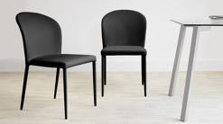 Santo Stackable Faux Leather Dining Chair