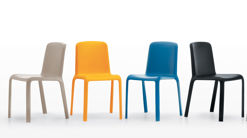 SNOW 300 Plastic Coloured Dining Chair