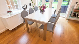 Casa Matt White Extending Dining Table