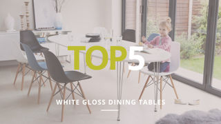 Top 5 White gloss tables