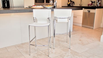 Modern Bar Stool Black or White
