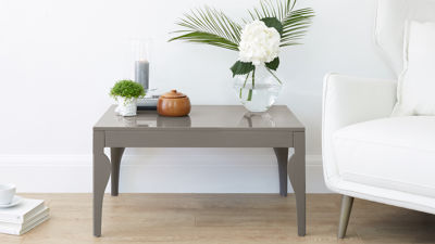 Eva Taupe Grey Gloss Coffee Table