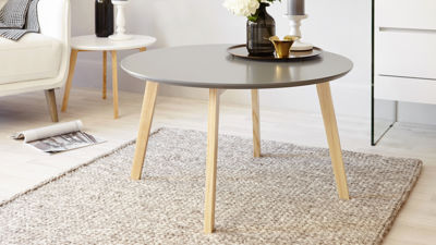 Penny Grey and Oak Coffee Table