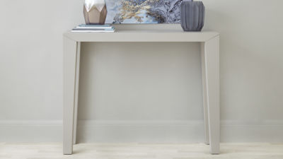 Salerno Matt Grey Console Table