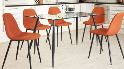 Zilo 4 to 6 Seater Glass Dining Table