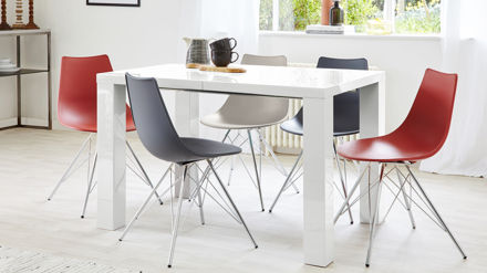 Large White Gloss Extending Dining Table