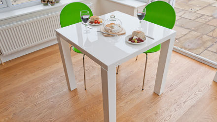 Small Modern White Gloss Dining Table