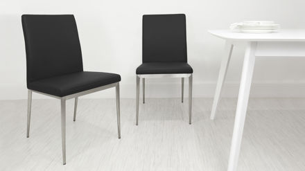 Modern Dining Chair Black White Purple Or Grey Brushed