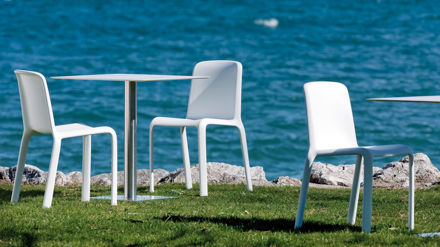 Modern White Dining Chairs in a Plastic Finish