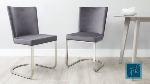 Form Velvet Cantilever Dining Chair