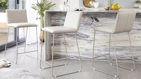 Tia Real Leather Bar Stool