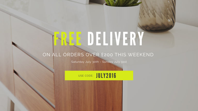 July Free Delivery Weekend