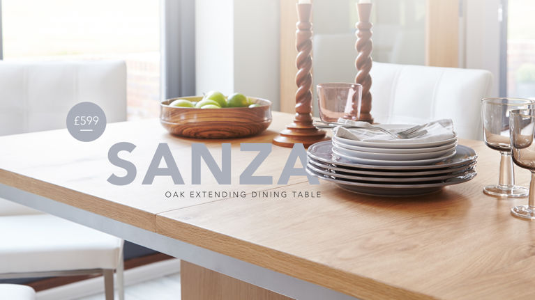 Sanza Oak Dining Table