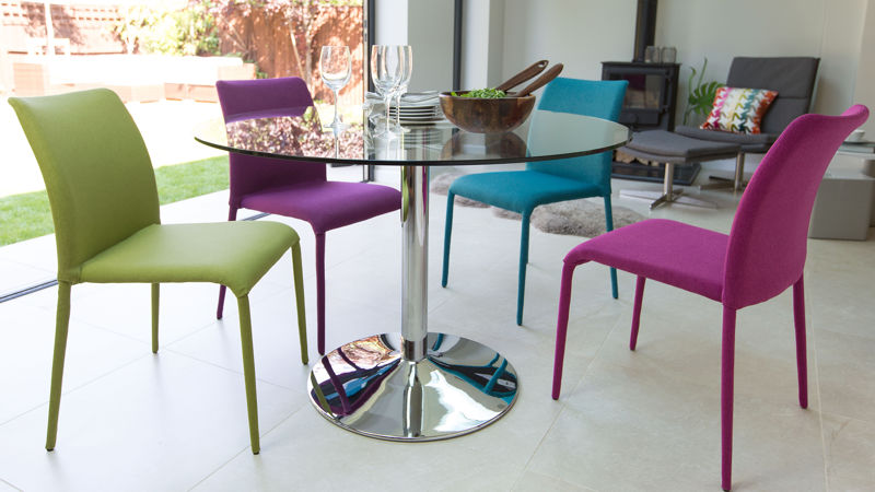 Modern dining room sets (table and chairs), stylish, round tables ...